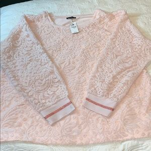 Lane Bryant Pink Lace Top NWT
